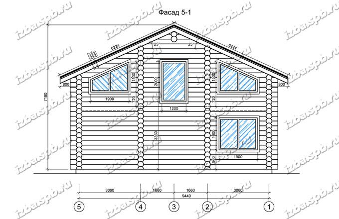 Дом-из-бревна-10х13,-вид-2-(проект-В2-1)