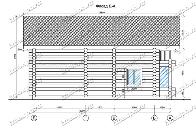 Дом-из-бревна-10х13,-вид-4-(проект-В2-1)