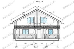 Дом-из-бревна-11х11, -вид-1-(проект-Ф69)