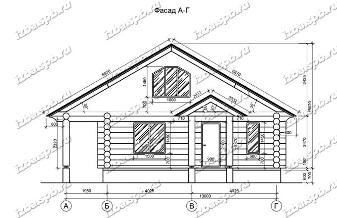 Дом из бревна 11х11