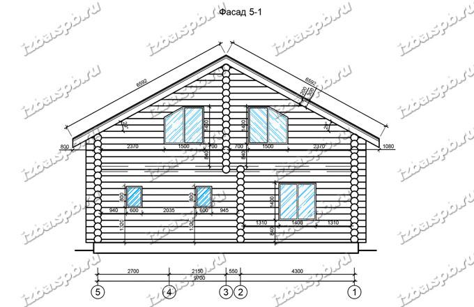 Дом-из-бревна-11х11,-вид-2-(проект-Ф69)