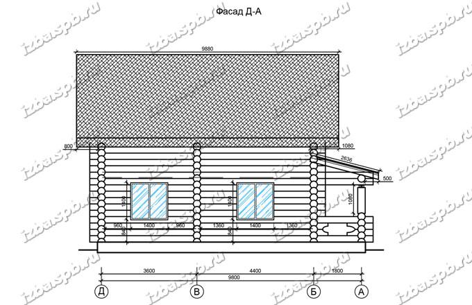 Дом-из-бревна-11х11,-вид-3-(проект-Ф69)