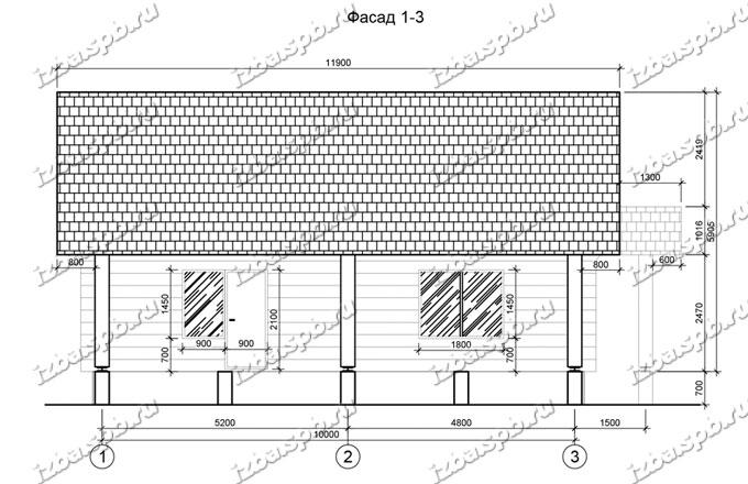Дом-из-бревна-11х11,-вид-3-(проект-Л44)