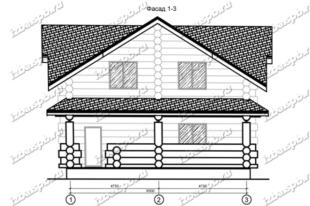 Дом-из-бревна-11х13,-вид-1-(проект-Н116)