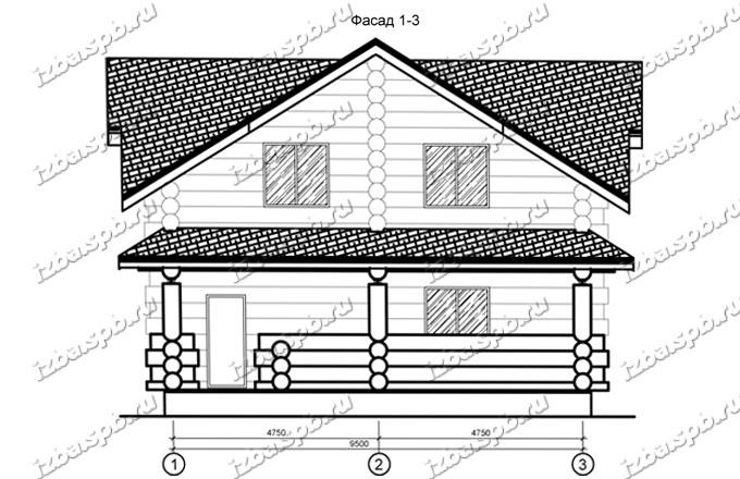 Дом из бревна 11х13