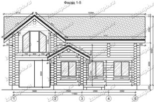 Дом-из-бревна-12х13,-вид-1-(проект-Л466)