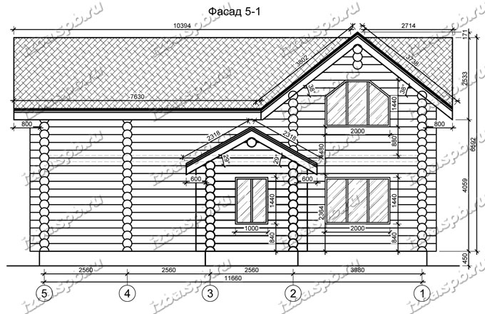 Дом-из-бревна-12х13,-вид-2-(проект-Л466)