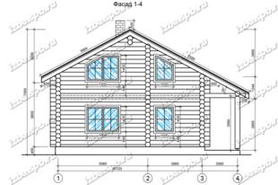 Дом-из-бревна-9х11,-вид-1-(проект-Н68)