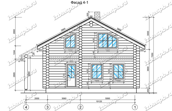 Дом-из-бревна-9х11,-вид-2-(проект-Н68)
