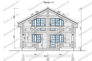 Дом-из-бревна-9х12,-вид-1-(проект-А0094)