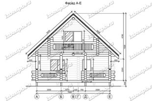 Дом-из-бревна-9х12,-вид-1-(проект-Л251)