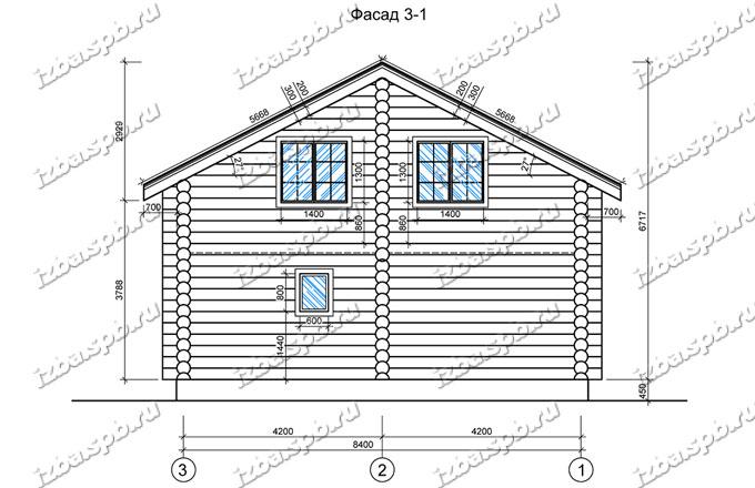 Дом-из-бревна-9х12,-вид-2-(проект-А0094)