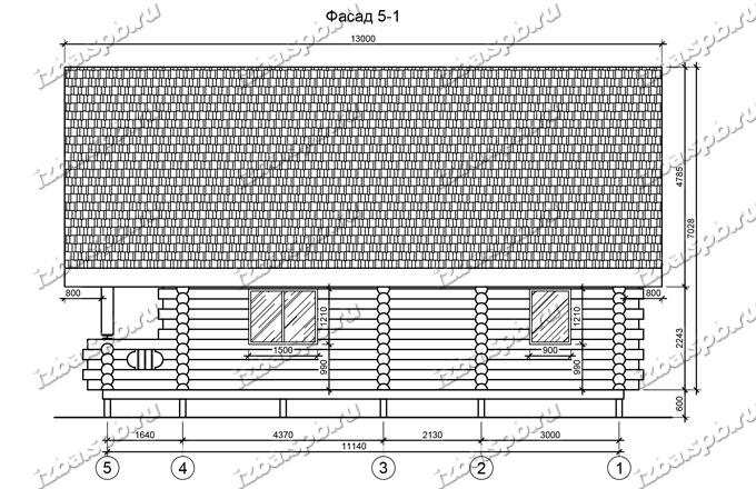 Дом-из-бревна-9х12,-вид-2-(проект-Л251)