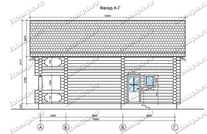 Дом-из-бревна-9х12,-вид-3-(проект-А0094)