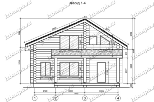 Дом-из-бревна-9х9,-вид-1-(проект-Л26)