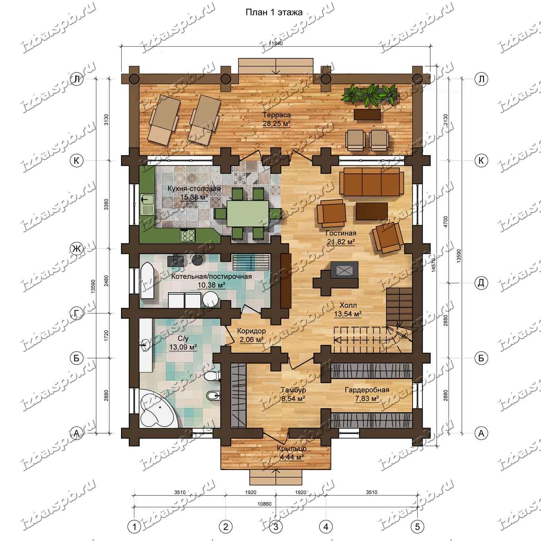 Дом-из-бревна-Брюсов-план-1-этажа