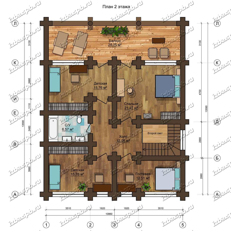 Дом-из-бревна-Брюсов-план-2-этажа