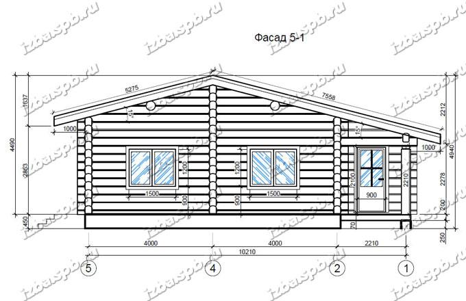Дом из лафета 11х12