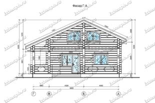 Дом-из-лафета-11х12,-вид-1-(проект-Н545)