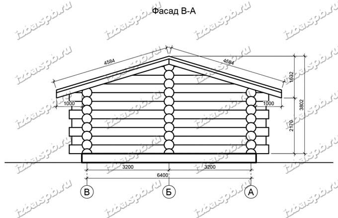 Баня-из-бревна-8х12,-вид-2-(проект-Н2243)