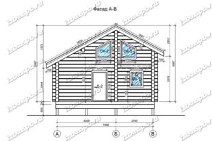 Баня-из-бревна-8х8,-вид-1-(проект-Н1950)