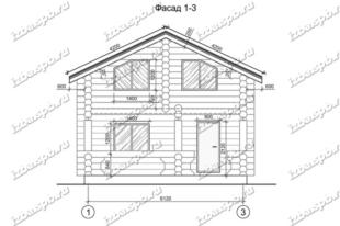 Дом-баня-из-бревна,-вид-1-(проект-С249)