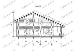 Дом-из-бревна-11х12-вид-1-(проект-Н1126)