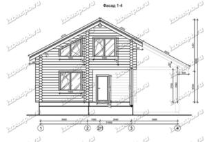 Дом-из-бревна-11х12,-вид-1-(проект-Н1304)
