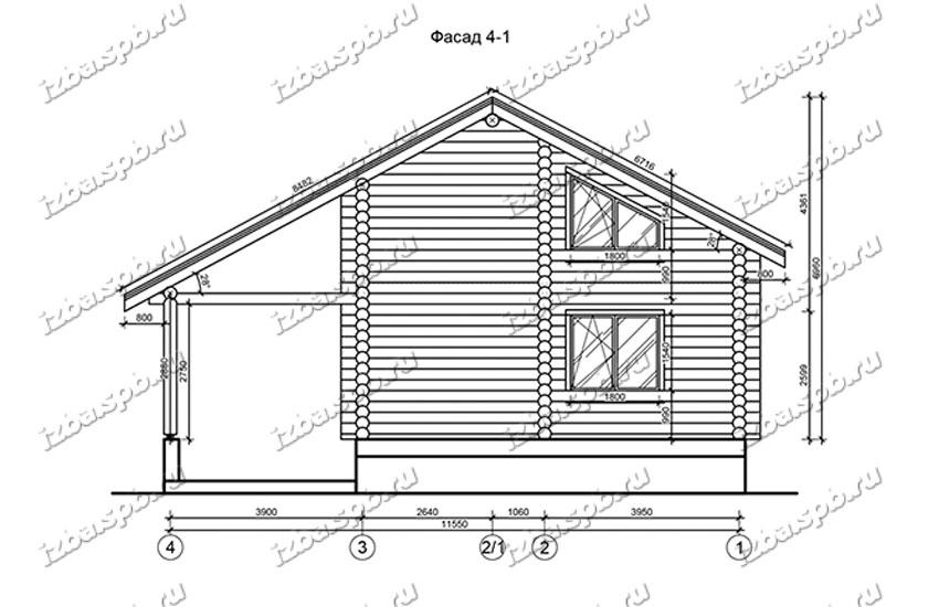 Дом-из-бревна-11х12,-вид-2-(проект-Н1304)
