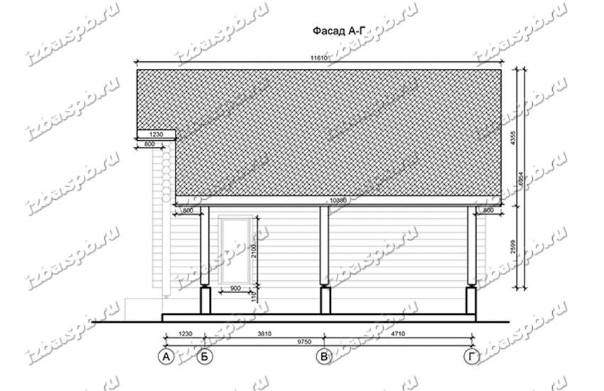 Дом-из-бревна-11х12,-вид-3-(проект-Н1304)