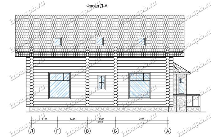 Дом-из-бревна-11х13,-вид-2-(проект-Прокофьев)