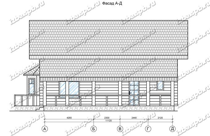 Дом-из-бревна-11х13,-вид-3-(проект-Прокофьев)