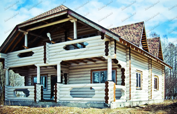 Дом из бревна  в д. Домкино