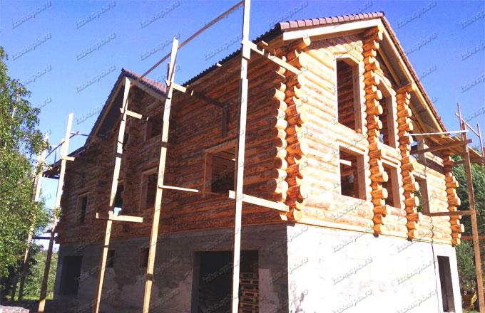 Дом из бревна под усадку