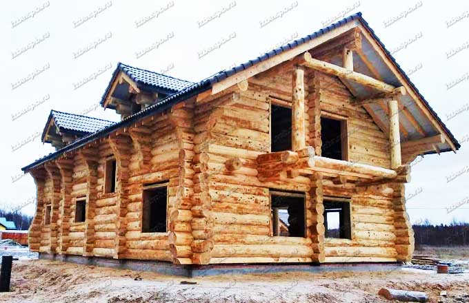 Дом из кедра в п Холодный ручей
