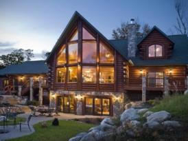 Каркасно-бревенчатый-дом