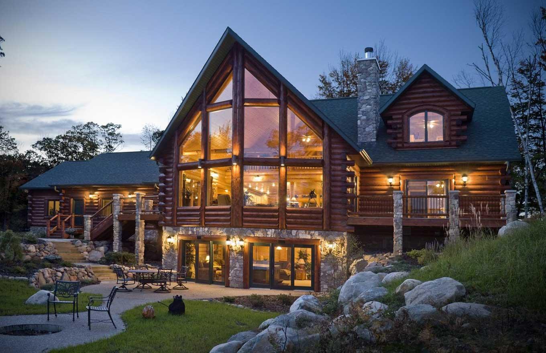 Каркасно-бревенчатые дома