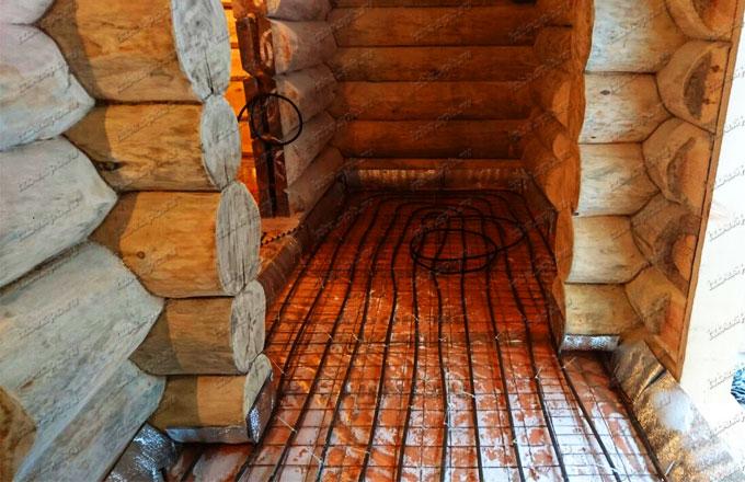 Отопление теплыми полами в п. Пятчино