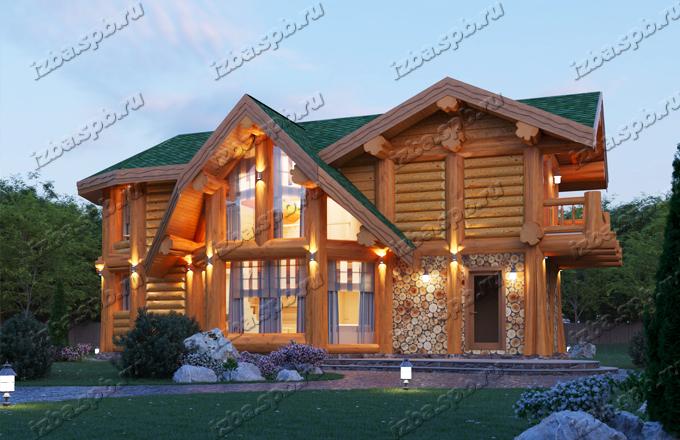 Каркасно-бревенчатый дом Беляев