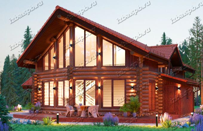 Проект каркасно-бревенчатого дома Шолохов
