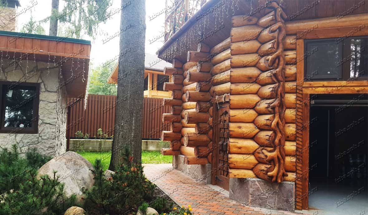 Сруб-гаража-в-Зеленогорске