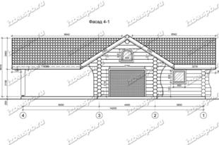 гараж-из-бревна-8х15,-вид-1-(проект-Н637)