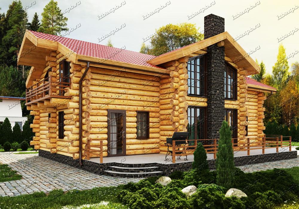 Дикий-сруб-дома-Достоевский