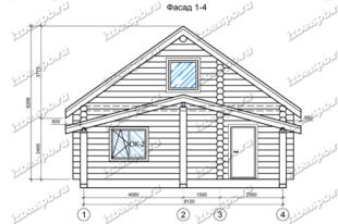Дом-из-бревна-9х11,-вид-2-(проект-Н2264)