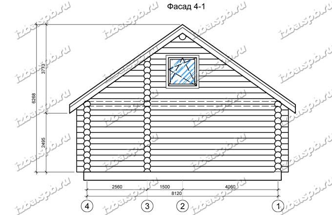 Дом-из-бревна-9х11,-вид-4-(проект-Н2264)