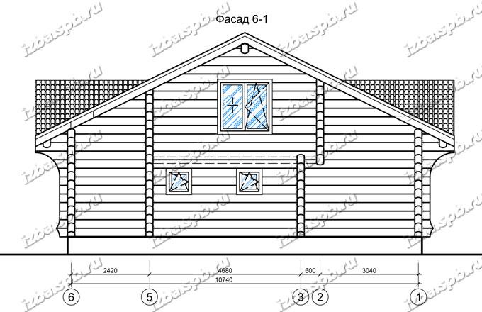 Дом из лафета 10х12