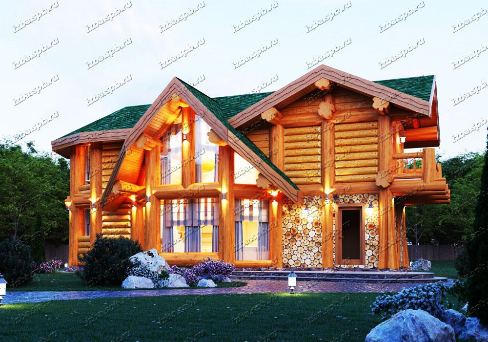 Сруб-дома-в-диком-стиле-Беляев