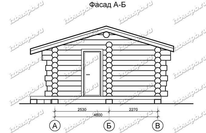 Баня-из-бревна-6х8,-вид-2-(проект-Н2257)