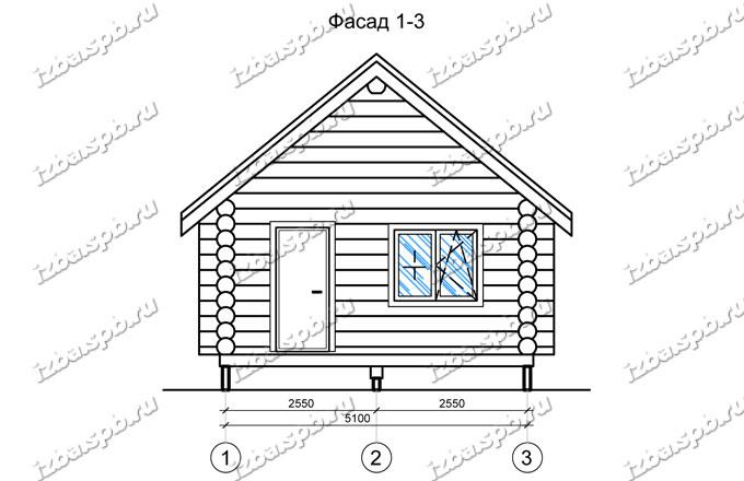Дом-баня-из-бревна-6х9,-вид-1-(проект-Н2220)