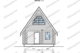 Дом-баня-из-бревна-6х9,-вид-1-(проект-Н349)